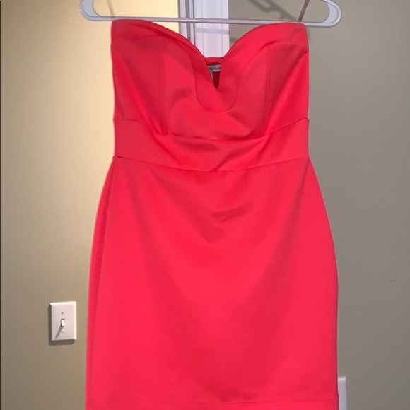 Charlotte Russe Dresses & Skirts - Strapless neon pink mini dress